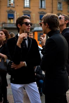 On the Street…. Except for the Cellphone…, Milan « The Sartorialist