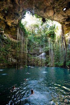 Sagrado Cenote Azul, Cancun, Mexico.