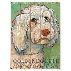 Goldendoodle Wood Sign