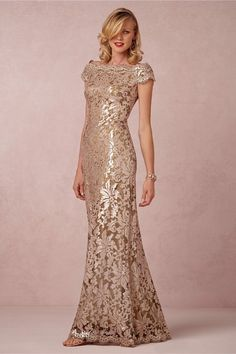 Mother of the Bride Beauty! $430 BHLDN Tadashi Shoji Odette Anthropologie Dress 14 Rose Gold Champagne Gown | Clothing, Shoes & Accessories, Wedding & Formal Occasion, Wedding Dresses | eBay!
