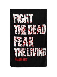 The Walking Dead Fight The Dead Fleece Throw | Hot Topic