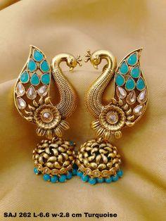 Brass earrings Nice Jewelry, Gold Jewelry, Jewelery, Jewelry Design, Ethnic Fashion, Womens Fashion, Gold Earrings Designs, Designer Earrings, Indian Jewelry