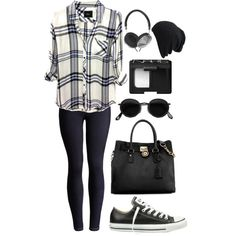 A fashion look from March 2014 featuring Rails blouses, Joules and Converse sneakers. Browse and shop related looks.