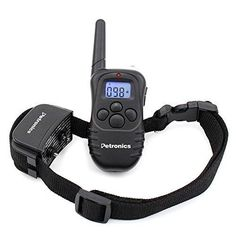 Petronics 330 Yards Rechargeable Shock Training Collar with Remote Electronic Dog Training Collar for Large Dog with Static Shock Vibration Beep and Light