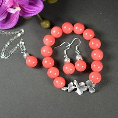 Bridesmaid gifts jewelry ,Coral bracelet jewelry
