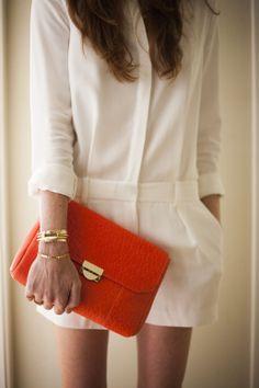white & orange poppy