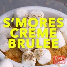 S'mores Creme Brulee Recipe