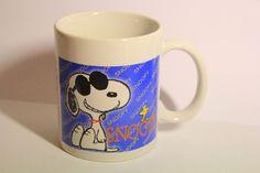 Vintage Peanuts Snoopy And Woodstock Coffee Cup Mug Ceramic