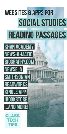 11 Websites and Apps for Social Studies Reading Passages - Class Tech Tips Incorporating social studies reading passages into your instruction can help you address learning goals in both subject areas. Here are my favorites! 5th Grade Social Studies, Social Studies Classroom, Social Studies Activities, Teaching Social Studies, Teaching History, Elementary Social Studies, History Classroom, Upper Elementary, Learning Goals