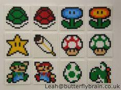 Mario coasters hama perler beads by Butterfly-Brain on deviantART