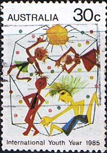 Australia 1985 International Youth Year Fine Used SG 963 Scott 944 Other Australian Stamps HERE