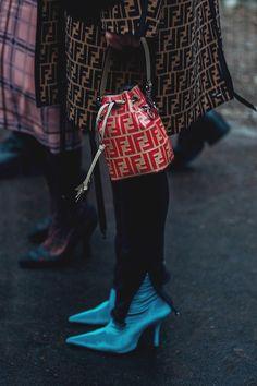 Milan Fashion Week Street Style 2018 | British Vogue - Fendi bag.