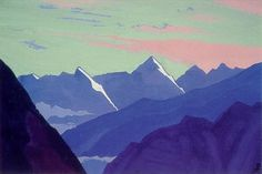 Rohtang pass, 1936 by Nicholas Roerich. Symbolism. landscape