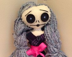 Handmade edgy rag dolls with a grunge punk by RiotGirlCreations