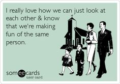 Funny Congratulations Ecard: I really love how we can just look at each other & know that were making fun of the same person.