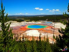 "Grand Prismatic in Yellowstone National Park ""Only 10% of visitors to Yellowstone see this view."""