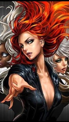 jean grey, rogue, and storm (marvel and x-men) drawn by sana takeda - Danbooru Marvel Dc Comics, Ms Marvel, Marvel Heroes, Storm Marvel, Marvel Girls, Marvel Women, Comics Girls, Anime Sexy, 5 Anime