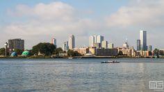 Het stadsgezicht van Rotterdam vanuit De Esch