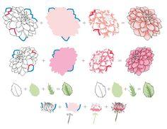 Dahlia Blossoms Stamp Set - Altenew  - 2