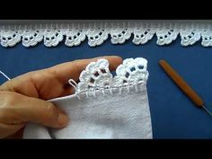 Crochet Edging Tutorial, Crochet Border Patterns, Crochet Butterfly Pattern, Crochet Boarders, Crochet Lace Edging, Crochet Trim, Filet Crochet, Crochet Designs, Baby Sweater Knitting Pattern