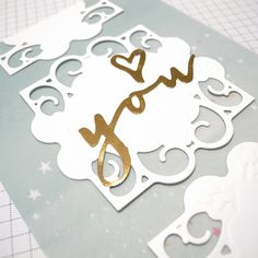 Labels 49 Decorative Accents Love Card | Spellbinders