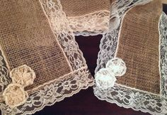 Burlap and Lace Table Runner via Etsy