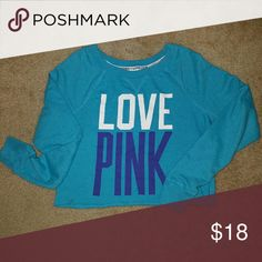 VS pink sweatshirt VS pink cropped sweatshirt.  Great condition. PINK Victoria's Secret Tops Sweatshirts & Hoodies
