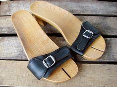 Martin Margiela wooden Tabi Mules shoes