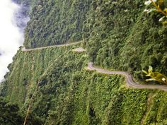 """Dubbed the """"World's Most Dangerous Road"""" Yungas Road runs from La Paz to Bolivia's Amazon rainforest region in the north of the country. Fro..."""