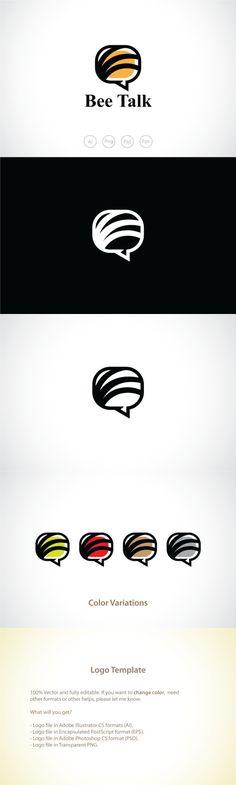 Bee Forum Talk Logo Template