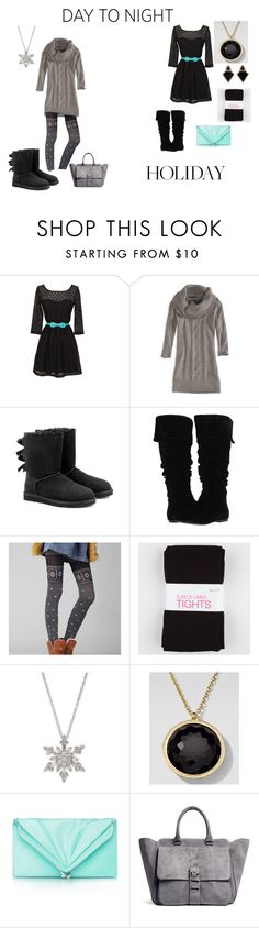 """""""day to night"""" by jammie-rider ❤ liked on Polyvore featuring American Eagle Outfitters, UGG Australia, Gabriella Rocha, Ando Store, Ippolita, Tiffany & Co., Tila March, Monique Péan, DayToNight and contest"""