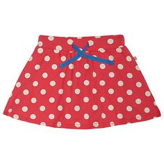 Buy Frugi Children's Spring Spot Skort, Pink/Cream SS15 Online at johnlewis.com