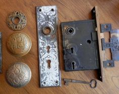 Plates Have An Inquiring Mind Antique Mortise Lock Knobs With Skeleton Key Durable Modeling