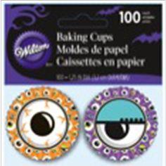 Mini Baking Cups-Halloween Eye Balls - ValuCrafts.com