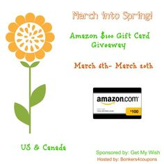 $100 Amazon Gift Card Giveaway US/CAN Ends 3/19