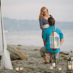 A Magical Beachside Proposal by @MoxiPhotography
