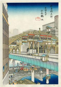 山口晃, Akira Yamaguchi : 「日本橋 改 (にほんばし あらため)」 | via: Sumally  (サマリー) |Nihonbashi Bridge, Nihonbashi, Sumida-ku, Tokyo