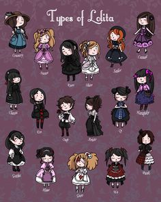 """secondlina: """"I totally forgot to tell you guys! Many of you asked for a smaller version of my 13x17 """"Types of Lolita"""" print. We had to move the Lolitas arent, but here it is : the 8x10. You can get it..."""