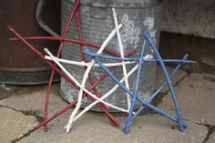 4th of July Twig Star Ornaments for the deck or patio = happy hooligans