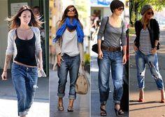 Como usar Calça Boyfriend. Ela é tão larguinha que dá até a impressão de que foi roubada do namorado. Por isso é chamada calça boyfriend que se tornou uma tendência de moda.   clique aqui!: http://imaginariodamulher.com.br/como-usar-a-calca-boyfriend/