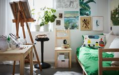 Dorm decor may start out basic, but you can still show off your creativity. IKEA has dorm accessories like bedding, lighting and plenty of boxes and organizers to get your things sorted.
