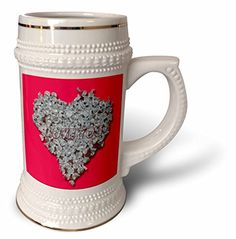 Jos Fauxtographee- Love - A heart made from candy kisses and put on a pink backdrop with love - 22oz Stein Mug (stn_185325_1) 3dRose http://www.amazon.com/dp/B014E5NUBC/ref=cm_sw_r_pi_dp_JaK6vb1EXATG5