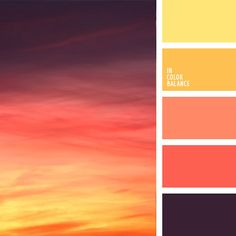 Such a gorgeous change in colours! I love how the colours in the photo and the colours in the Palette are reversed. Sunset Color Palette, Sunset Colors, Colour Pallette, Colour Schemes, Color Patterns, Color Combos, Nature Color Palette, Summer Color Palettes, Beautiful Color Combinations