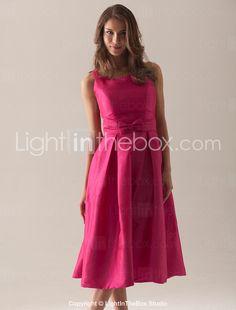 A-line Square Tea-length Taffeta Bridesmaid/ Wedding Party Dress - USD $ 79.99 ( Comes in shades of blue, too)