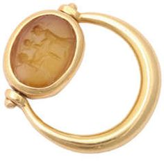 Bulgari  Pinky Ring set with Ancient Intaglio $6,500