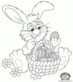 Free Easter Bunny Printable Coloring Page