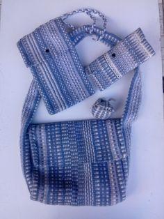 une nouvelle couleur chez Tiss'Art , connue de tous : le jean  ! acrylique tissé main