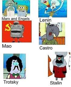 Communists in spongebob Memes Spongebob, Cartoon Memes, Stupid Funny Memes, Haha Funny, Hilarious, Top Funny, Memes Humor, Funny Humor, History Jokes