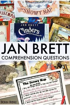 Dec 10, 2019 - This unit has comprehension questions for 17 Jan Brett WINTER stories. If you have a Jan Brett book you would like me to add, just message me!Titles include:Gingerbread BabyGingerbread FriendsGingerbread Christmas The Hat The Mitten The Wild Christmas Reindeer The Twelve Days of ChristmasChr...