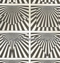 vintage 1970's optic illusion pattern art print book plate black & white pop art design retro home decor mod geometric picture wall 79 80 by RecycleBuyVintage on Etsy
